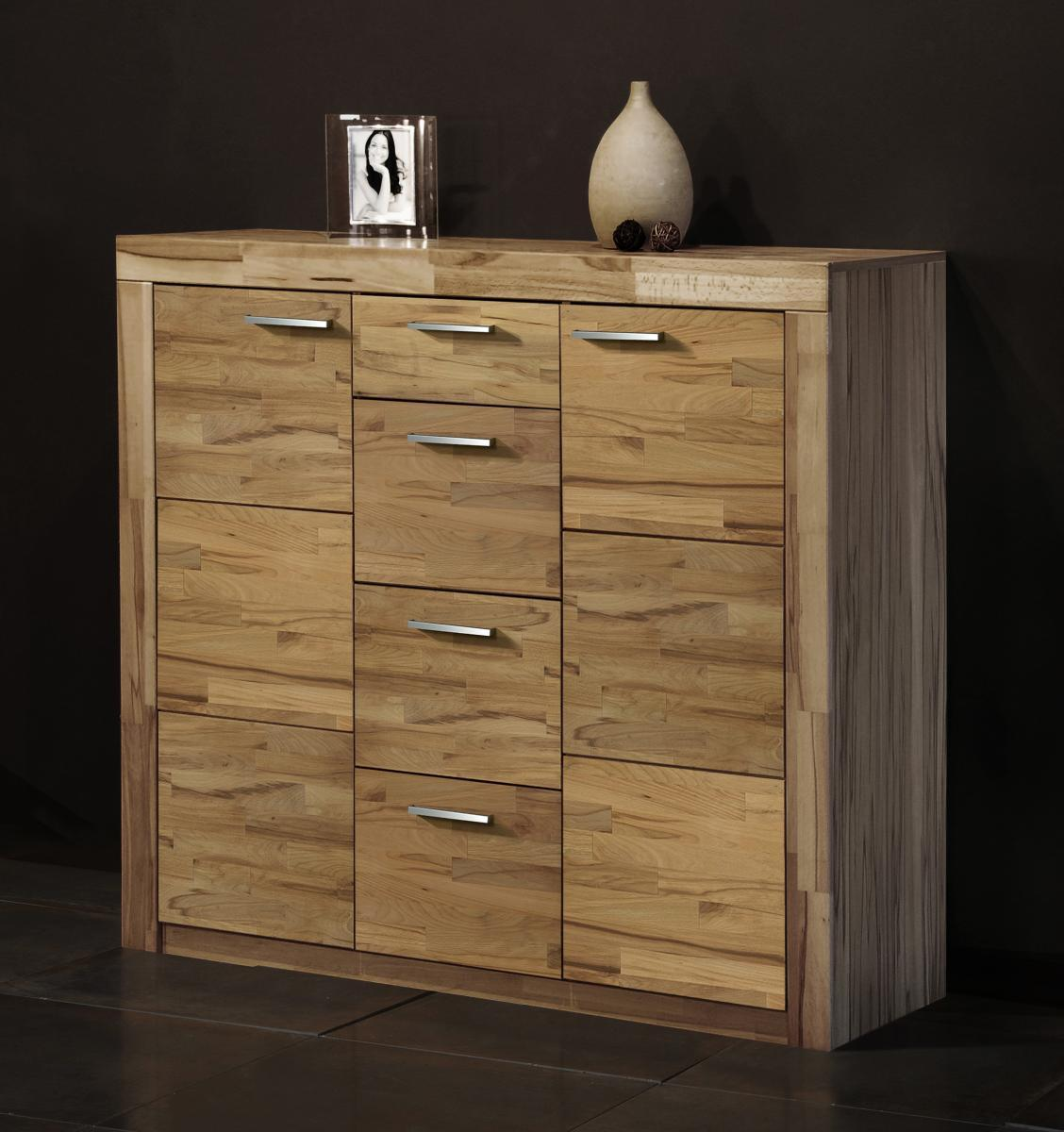 kommode highboard schrank in kernbuche teil massiv. Black Bedroom Furniture Sets. Home Design Ideas